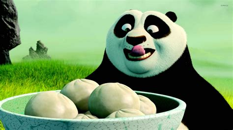 Kung Foo Panda Wallpaper Po Having Dumplings Kung Fu Panda Wallpaper Cartoon Wallpapers 51004