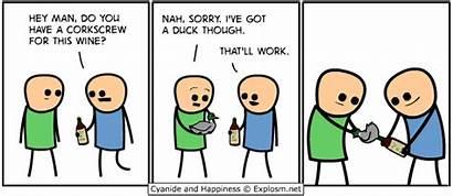Corkscrew Duck Comics Comic Wait Happiness Cyanide