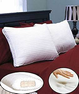 amazoncom peaceful dreams 2quot thick memory foam core With down pillow with memory foam core