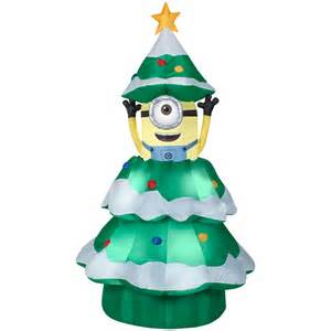 shop gemmy 6 98 ft x 3 77 ft animatronic lighted minion christmas inflatable at lowes com