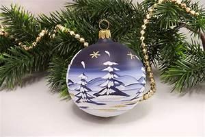 Weihnachtskugeln Aus Lauscha : 4 weihnachtskugeln 6 cm winterlandschaft hellblau aus lauscha ~ Orissabook.com Haus und Dekorationen