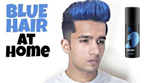 Blue Highlights At Home Blue Hair Colour Bblunt Hair