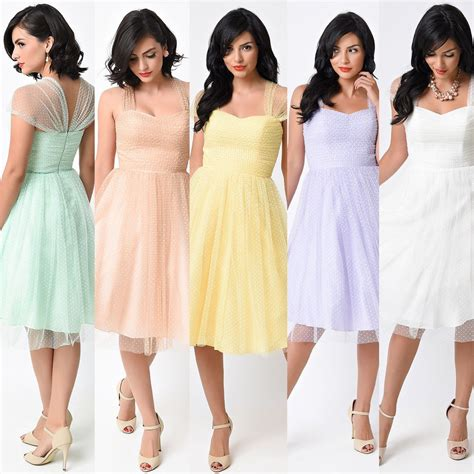 pastel color bridesmaid dresses retro vintage cocktail dress with sheer cap sleeves in