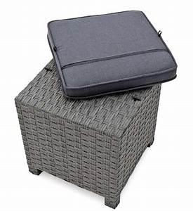 Rattan Lounge Grau : lounge hocker rattan grau greenbop online shop ~ Watch28wear.com Haus und Dekorationen