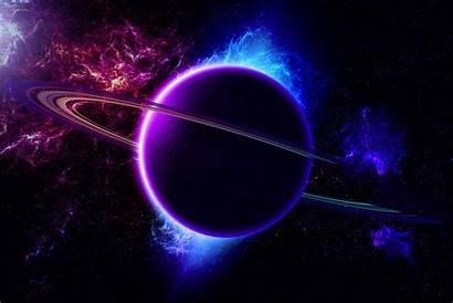 Saturn Planet Colour Retrograde Animated Space Planets
