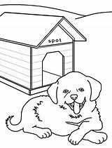 Dog Kennel Coloring Drawing Pages Getcolorings Printable Getdrawings sketch template