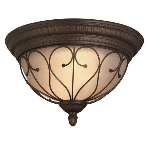 bronze flush ceiling light shop portfolio charton place 15 28 in w oil rubbed bronze