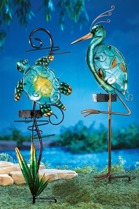 solar lighted seashore decorative garden stakes