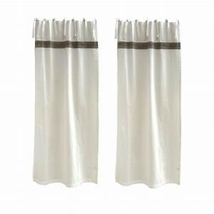 Embrases Double Rideaux : rideau provencal lin modificare una pelliccia ~ Teatrodelosmanantiales.com Idées de Décoration