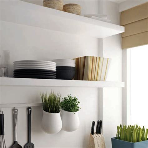 wide floating shelf kit  stainless steel white