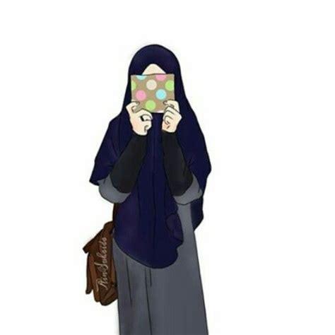 koleksi gambar animasi hijab syari terbaru  sapawarga