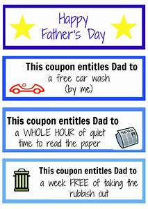 Father's Day coupon booklet - Kidspot