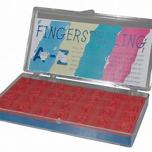 maxiaids fingerspelled alphabet rubber stamp kit With rubber stamp letters kit