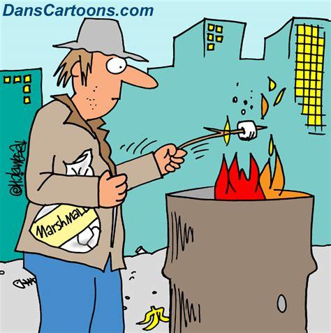 homeless cartoons