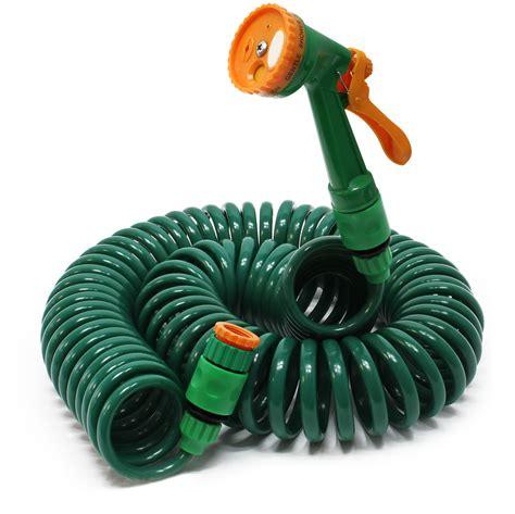 manguera espiral riego jardin  tubo goma flexible regar
