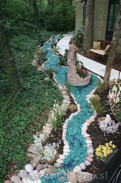 recycled rocks glass landscaping rocks backyard