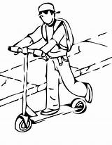 Scooter Coloring Pages Razor Template Things sketch template