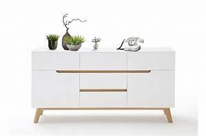 Buffet Blanc Scandinave : buffet scandinave 145 cm cbc meubles ~ Teatrodelosmanantiales.com Idées de Décoration