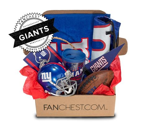 gifts for new york giants fans new york giants memorabilia gift box signed mini fanchest