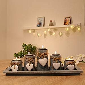 Weihnachtsdeko Fensterbank Innen by De Teelichthalter Set Auf Holztablett