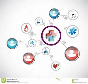 Medical Network Diagram Illustration Stock Illustration