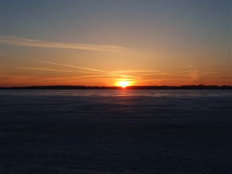 sunset florida lake april