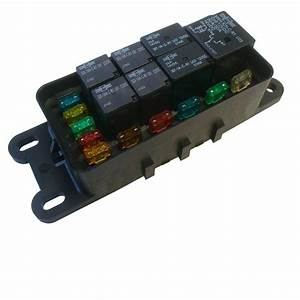 Waterproof Sealed Fuse Relay Panel Block Atv Utv Car Truck