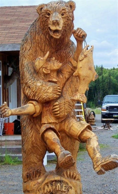 amazing bear carvings woodworking crazy
