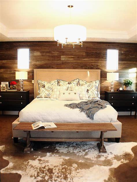 rustic bedroom  cowhide rug home decorating trends