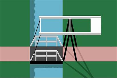 Canal Bridges Waterfront Bascule Animation Fps Half