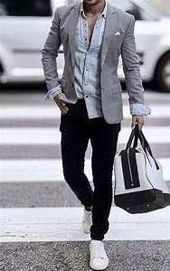 Mens Light Blue Sport Coat Grey Sport Coat Teamed With A Light Blue Untucked Shirt