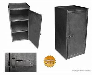 Petit Meuble Industriel : meuble m tallique ~ Teatrodelosmanantiales.com Idées de Décoration