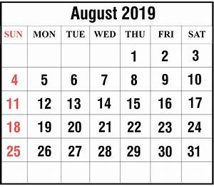 Calender August Free August 2019 Printable Calendar In Pdf Excel And Word