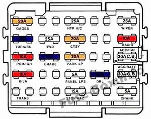 Fuse Box Diagram  U0026gt  Chevrolet Suburban  Gmt400  1993