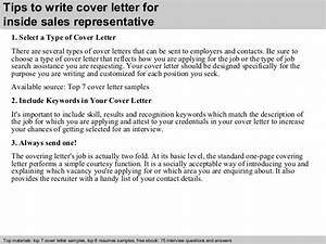 inside sales representative cover letter With cover letter for inside sales position