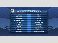 Il calendario della Serie A 20172018 le date di tutte le
