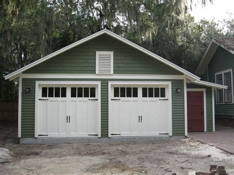 Custom Two-car Garage With Attached Workshop