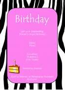 Zebra Pink Birthday Invitation Template Free Printable Birthday Invitation Templates Party Invitation Templates Happy Party Idea Flower Birthday Party Invitation Template