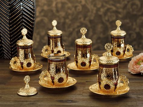 kilim pillows model tea cups set gold color