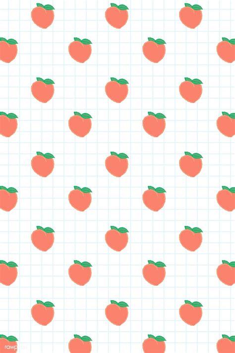 Download premium vector of Hand drawn peach seamless ...