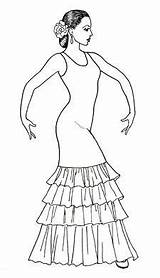Flamenco Drawing Dancer Dance Costume Spanish Raquel Drawings Dancers Coloring Lopez Sketches Ballet Dresses Designs Dancing Spain Pages Line Ballerina sketch template