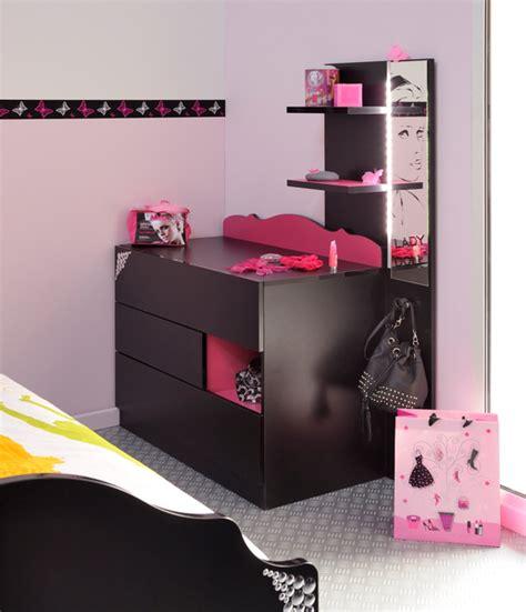 coiffeuse chambre ado meuble coiffeuse pour ado table de lit