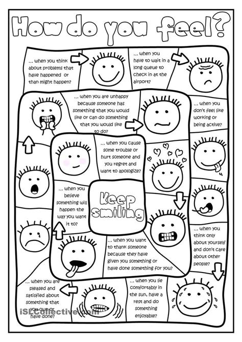How Do You Feel?  Board Game Worksheet  Free Esl Printable Worksheets Made By Teachers Tss