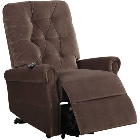 recliner chair walmart acme zody recliner with power lift chocolate velvet
