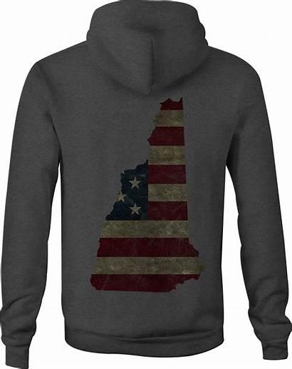 Flag Sweatshirt American Hooded Zip Hoodie Hampshire