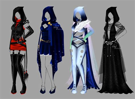 Outfit design - 146 - 149 - closed by LotusLumino on DeviantArt