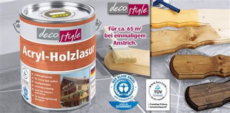 Deco Style® Acrylholzschutzlasur Von Aldi Süd Ansehen