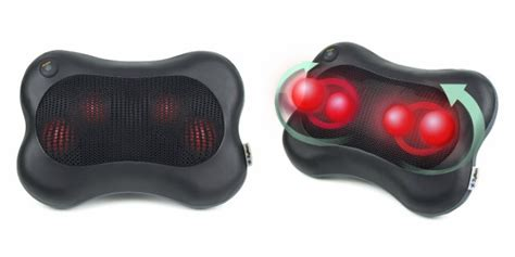 neck and back massager walgreens zyllion shiatsu pillow massager heat just 31 95 shipped