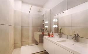 Implantation Salle De Bain : amenagement d 39 une salle de bain blanc et creme karine perez ~ Dailycaller-alerts.com Idées de Décoration