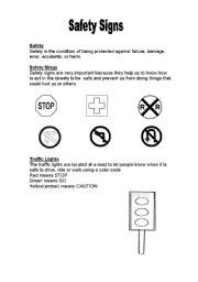 Safety Signs  Esl Worksheet By Cagucha